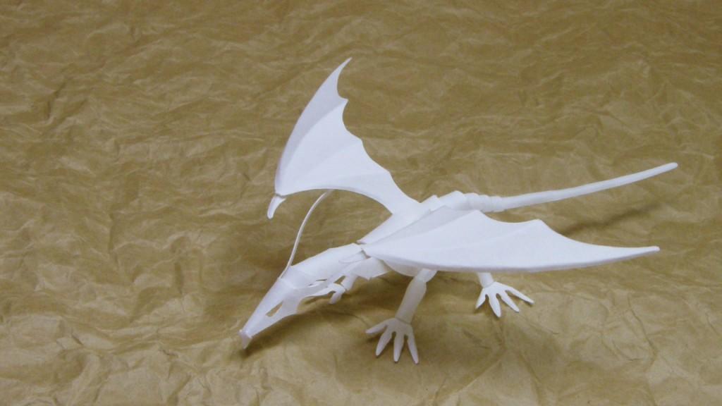 ファイバークラフト紙で作るドラゴン