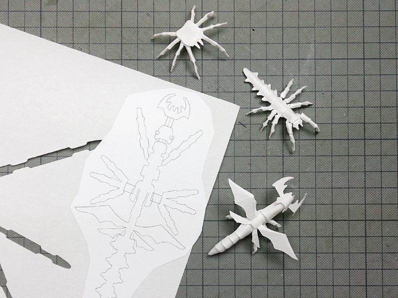 クラフトクラブ、型紙の余白で作る_1