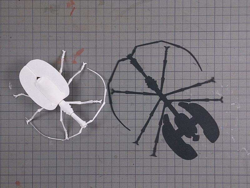 バイオリンムシ2、型紙