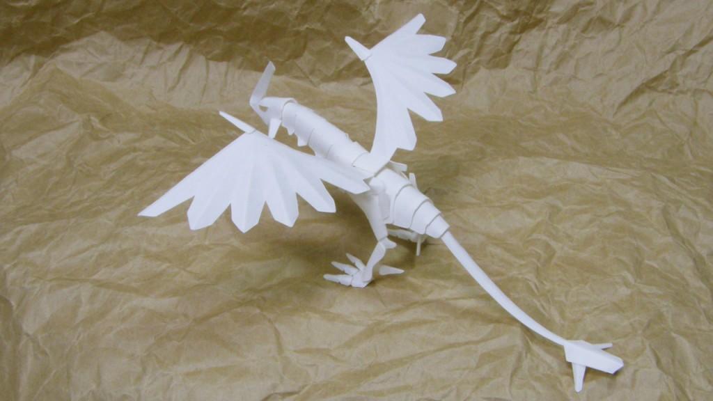 ファイバークラフト紙で作るドラゴン9_1