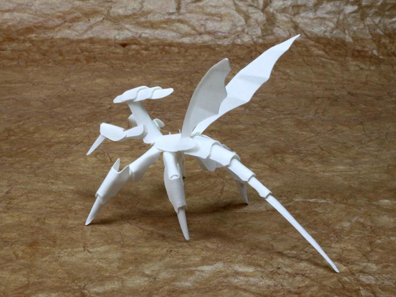 ファイバークラフト紙で作る虫っぽい生物3_2