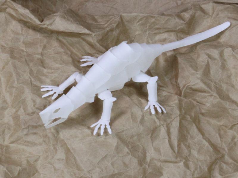 ファイバークラフト紙で作るドラゴンNo.13試作_1