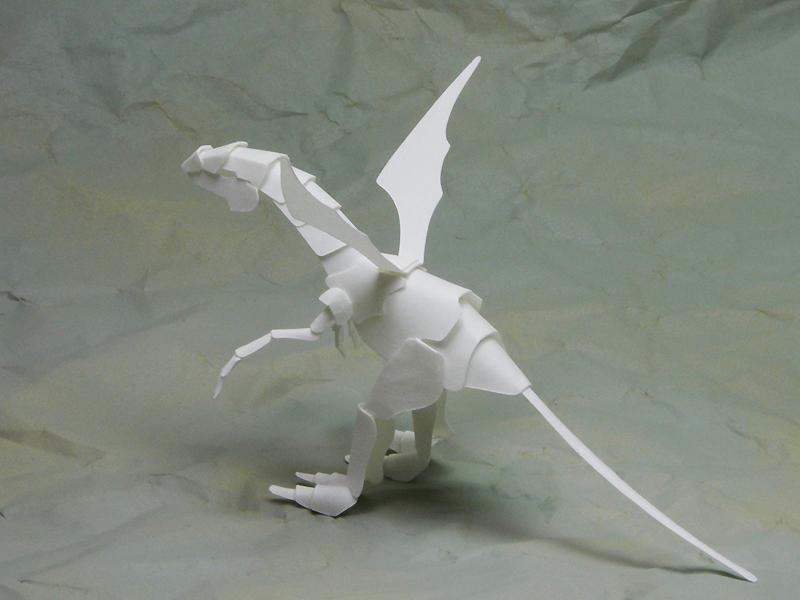 ファイバークラフト紙で作るワンペーパードラゴン15_1_2