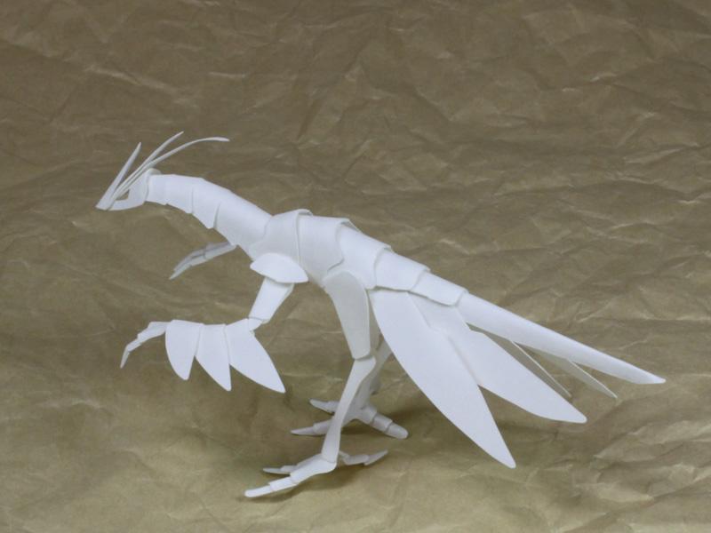 ファイバークラフト紙で作るワンペーパードラゴンNo.17_2