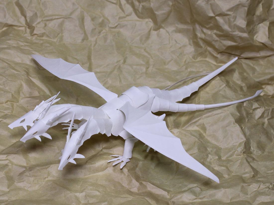 ファイバークラフト紙で作るワンペーパードラゴンNo.18_4