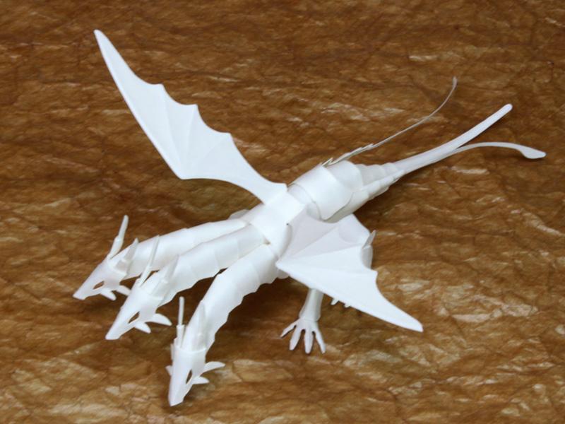 ファイバークラフト紙で作るワンペーパードラゴンNo.18_2_1