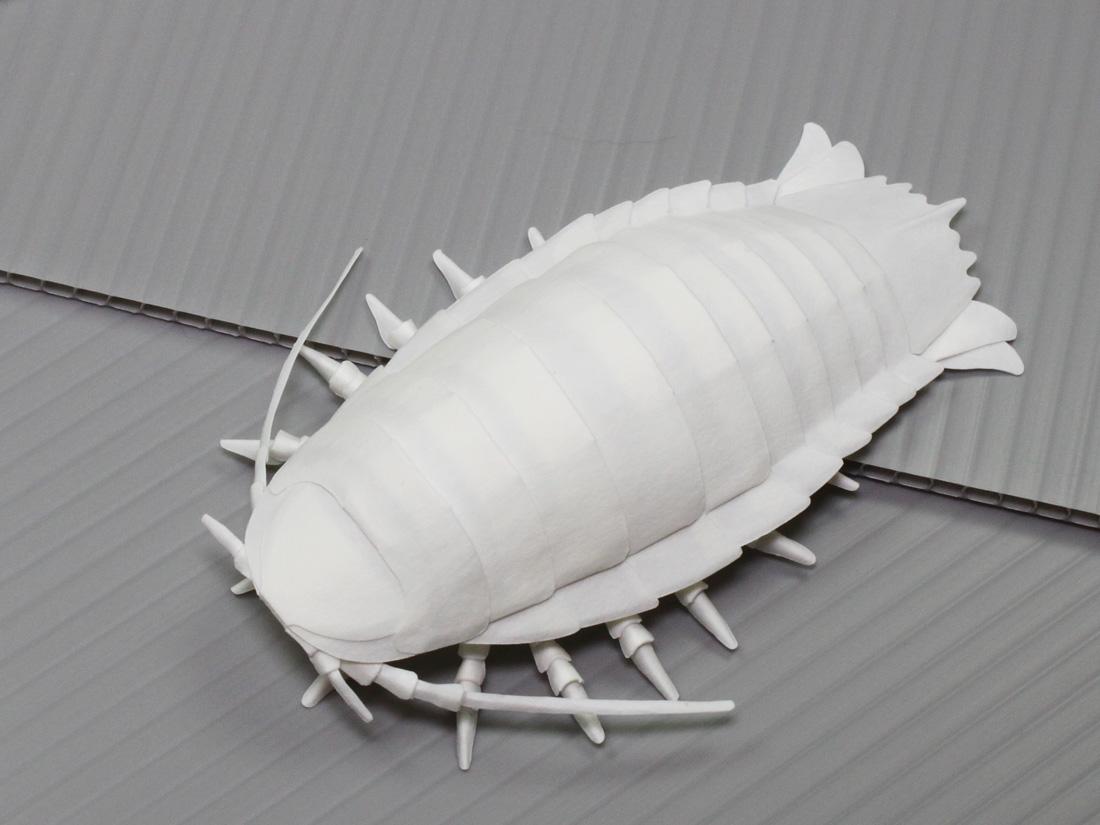 ファイバークラフト紙で作るグソクムシ