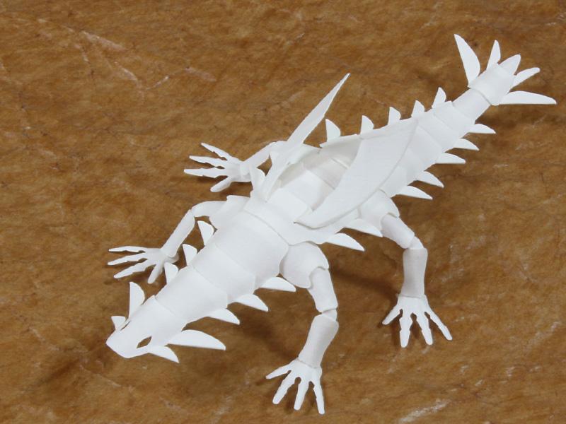 ファイバークラフト紙で作るワンペーパードラゴンNo.20_1