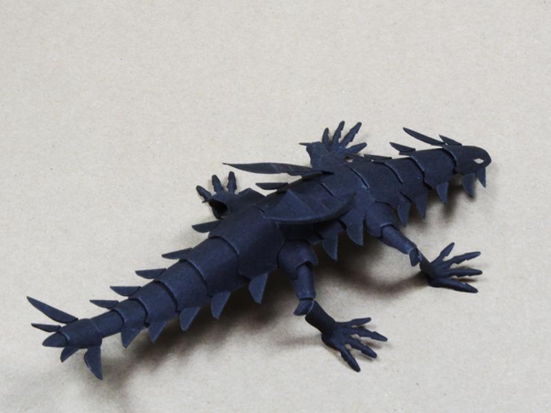 ファイバークラフト紙で作るワンペーパードラゴンNo.20_2
